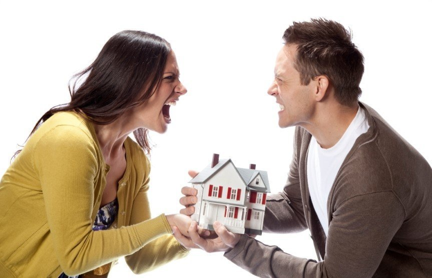 Большая часть дома после развода только